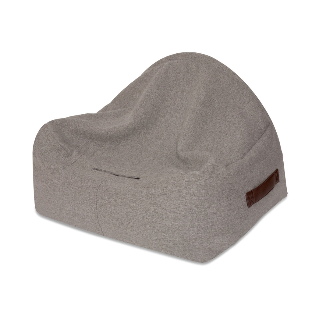 KONA CAVE® luxury snuggle cave dog bed in grey flannel fabric.  Burrowing dog bed for nesting dogs. Hund Höhlenbett