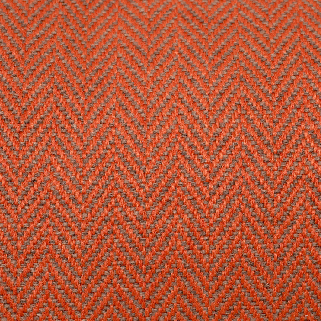 KONA CAVE® designer dog bed in elegant orange herringbone fabric - detail.