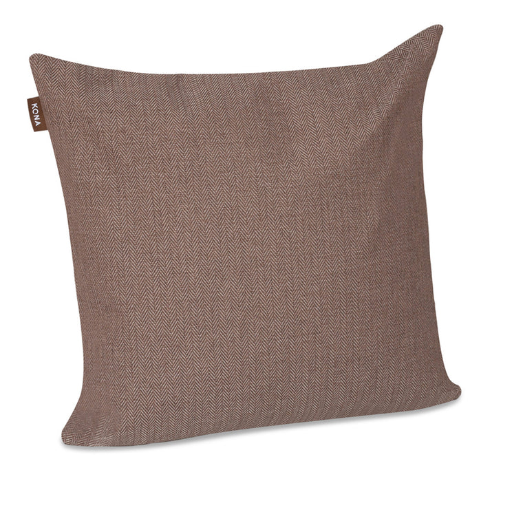 Pillow Cover Brown Herringbone
