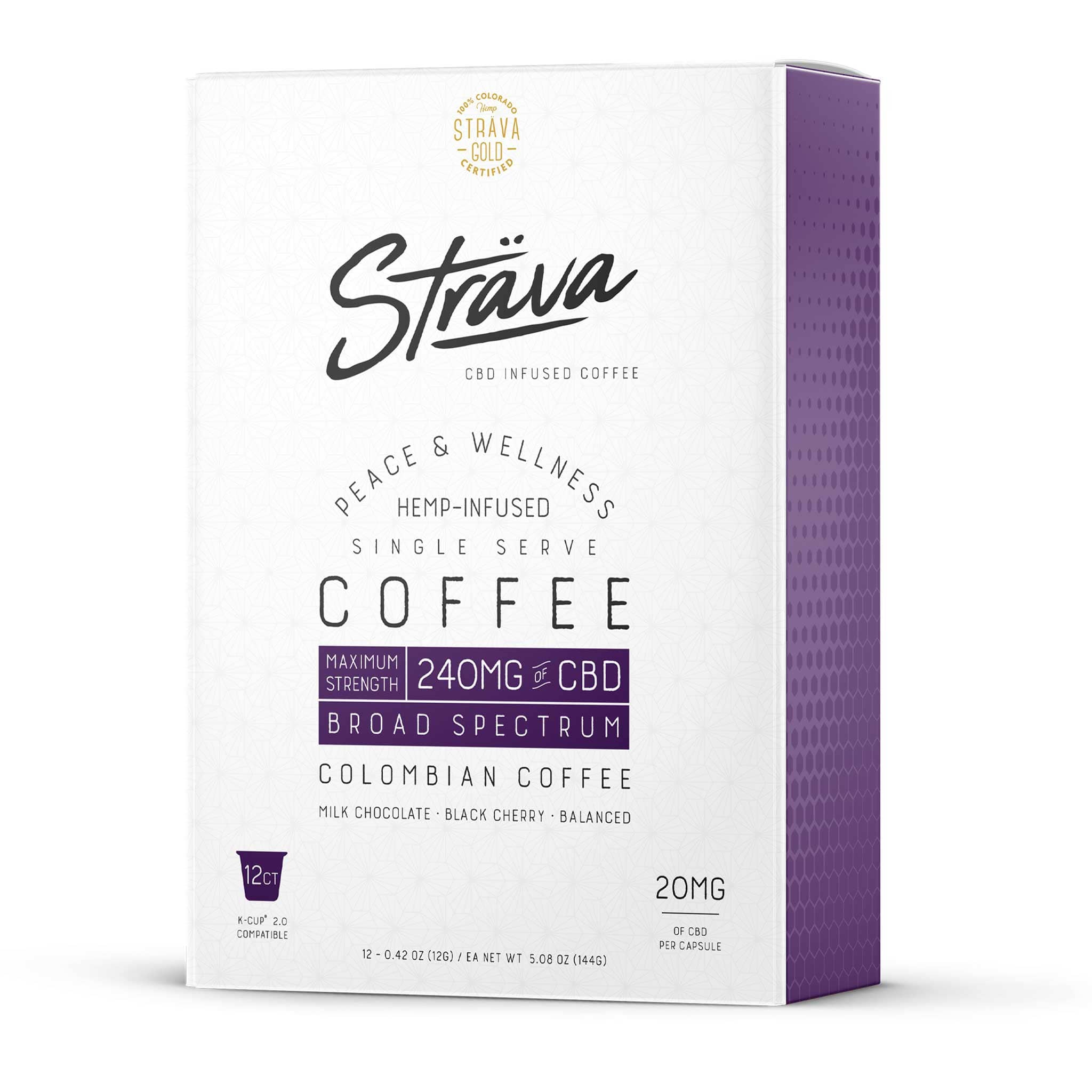 K-Cup 2.0 Compatible - Maximum Strength - 20mg CBD/Serving (Medium Roast Coffee)