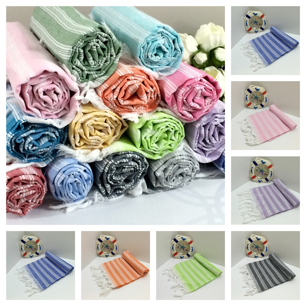 Turkish pestemal towels for the beach