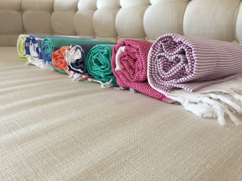 Turkish Peshtemal Towels Package Deal Diamond Style - Turkish Peshtemal Towels