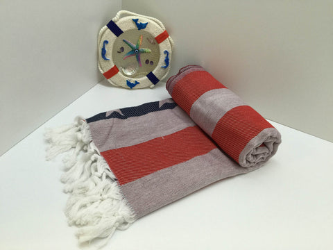 Turkish Peshtemal Towels American Flag, US Flag Style Wholesale 40 pcs pestemals - Turkish Peshtemal Towels