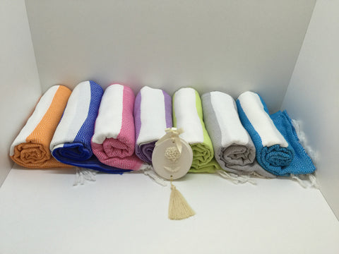 Turkish Peshtemal Towels Wholesale pestemals 40 pcs Diamond Style - Turkish Peshtemal Towels