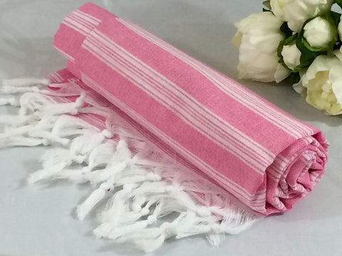Turkish Peshtemal Towel Palace Style Pink pestemals - Turkish Peshtemal Towels
