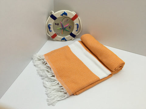 Turkish Peshtemal Towels Orange