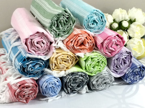 Turkish Peshtemal Towels Wholesale pestemals 60 pcs Palace Style - Turkish Peshtemal Towels