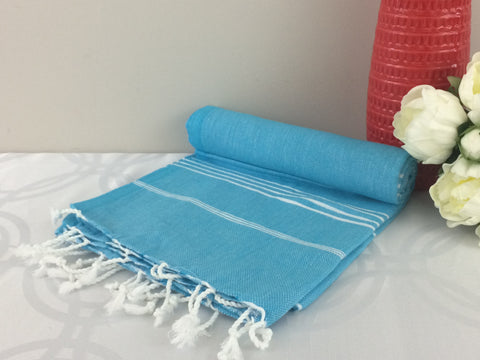 Turkish Peshtemal Towels Sultan Style Blue pestemals - Turkish Peshtemal Towels