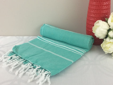 Turkish Peshtemal Towels Sultan Style Turquoise pestemals - Turkish Peshtemal Towels