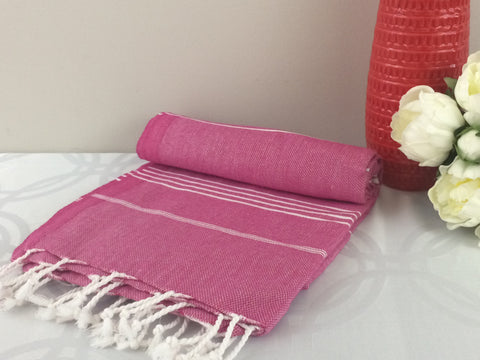 Turkish Peshtemal Towels, pestemal Sultan Style Pink - Turkish Peshtemal Towels
