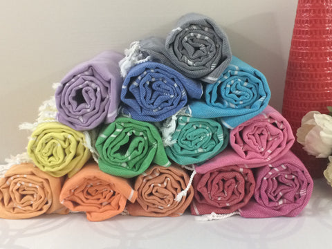 Turkish Peshtemal Towels Wholesale pestemals 50 pcs Sultan Style - Turkish Peshtemal Towels