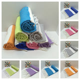 Custom Turkish Peshtemal Towels With Embroidered Logo Free Shipping to US