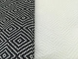 Turkish Peshtemal Towels Wholesale pestemals 40 pcs Diamond Style Black, White - 8