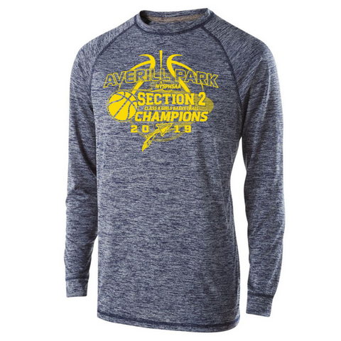Averill Park Girls Basketball Long Sleeve Heather Performance Tee- Youth, Ladies, & Men's, 2 Colors