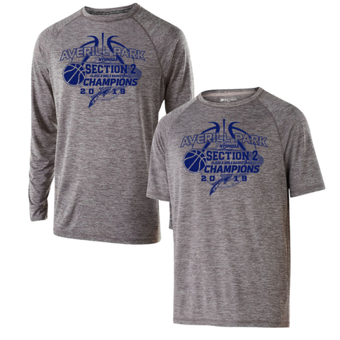 Averill Park Girls Basketball Heather Performance Tee/Long Sleeve Bundle- Youth, Ladies, & Men's, 2 Colors