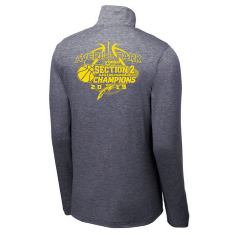 Averill Park Girls Basketball Lightweight Tri-Blend 1/4 Zip Pullover- Ladies & Men's, 2 Colors