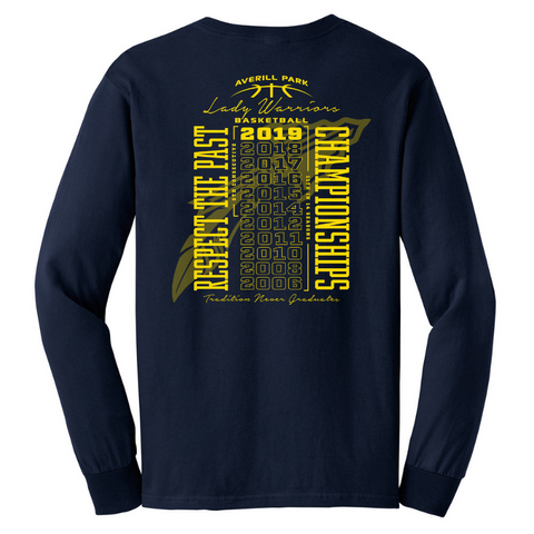 Averill Park Girls Basketball Long Sleeve Tee- Youth & Adult, 2 Colors