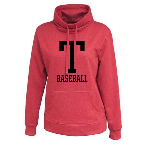 Tamarac Baseball Ladies Cowlneck Sweatshirt- 3 Colors