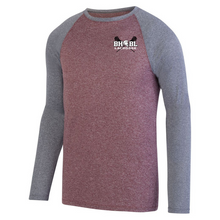 Load image into Gallery viewer, BHBL Lacrosse Long Sleeve Heathered Colorblock Performance Shirt- Ladies & Men's, 2 Colors