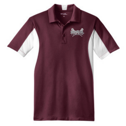 BHBL Lacrosse Side Blocked Performance Polo- 2 Colors