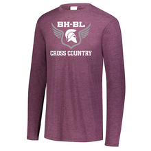 Load image into Gallery viewer, BHBL Cross Country Tri-Blend Long Sleeve- Youth, Ladies, & Men's, 2 Colors