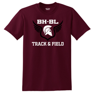 BHBL Track & Field Cotton Tee- Youth & Adult, 2 Colors