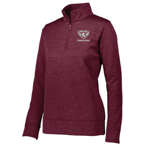 BHBL Track & Field 1/4 Zip Heather Performance Pullover- Ladies & Men's, 3 Colors
