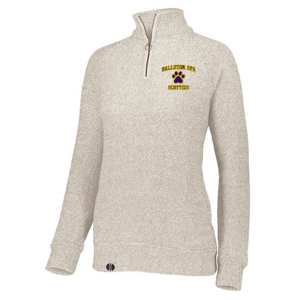 Ballston Spa Ladies French Terry Fleece 1/4 Zip Pullover- 3 Colors