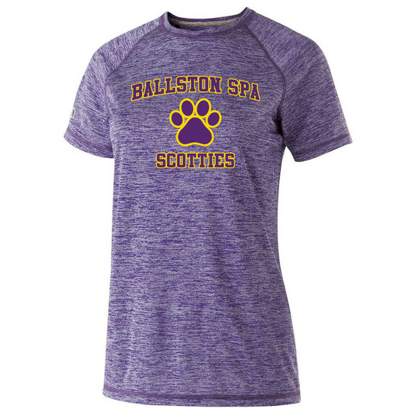 Ballston Spa Heather Performance Tee- Youth, Ladies, & Men's, 2 Colors, 2 Logos