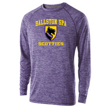 Load image into Gallery viewer, Ballston Spa Long Sleeve Heather Performance Tee- Youth, Ladies, & Men's, 2 Colors, 2 Logos