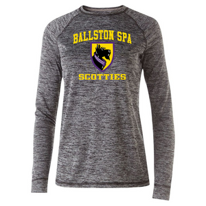 Ballston Spa Long Sleeve Heather Performance Tee- Youth, Ladies, & Men's, 2 Colors, 2 Logos