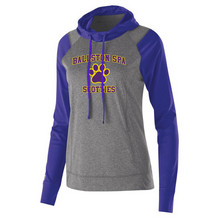 Load image into Gallery viewer, Ballston Spa Hooded Long Sleeve Performance Shirt- Youth, Ladies & Men's, 3 Colors, 2 Logos