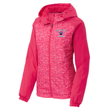 Load image into Gallery viewer, Ballston Spa Heathered Hooded Wind Jacket- Ladies & Men's, 2 Colors