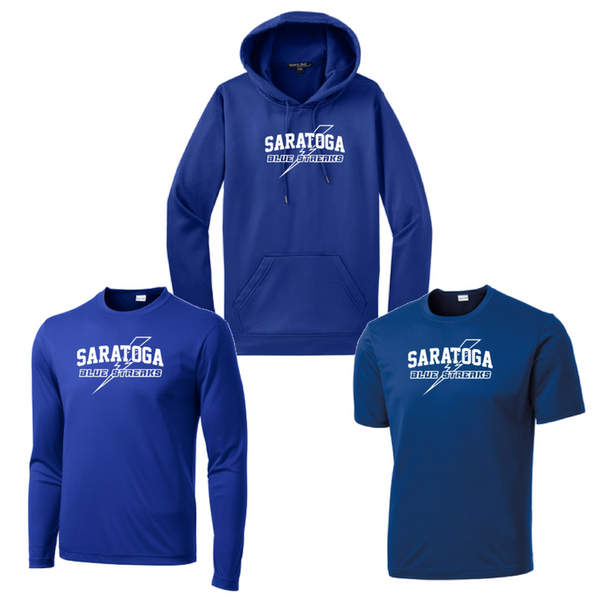 Saratoga Blue Streaks Performance Bundle- Youth & Adult, 2 Colors