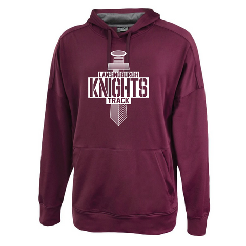 Lansingburgh Track & Field Lightweight Solid Performance Hoodie- 2 Colors