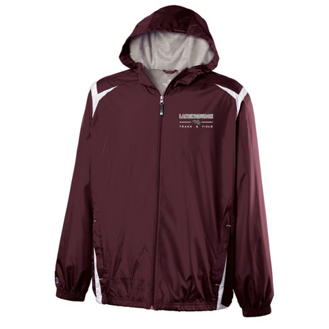 Lansingburgh Track & Field Hooded Full Zip Lightweight Jacket- Youth & Adult, 2 Colors