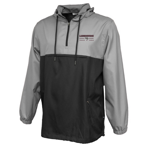 Lansingburgh Track & Field Colorblock Hooded 1/4 Zip Windbreaker- Ladies & Men's, 3 Colors