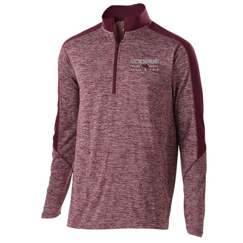 Lansingburgh Track & Field Heather Lightweight 1/4 Zip Pullover- Youth, Ladies, & Men's, 2 Colors