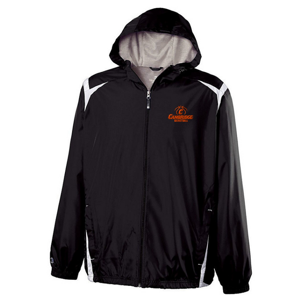 Cambridge Basketball Hooded Full Zip Lightweight Jacket- Youth & Adult, 2 Colors
