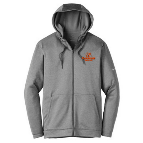Cambridge Basketball Nike Full Zip Performance Hoodie- Ladies & Men's, 2 Colors