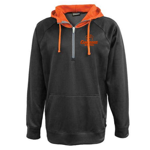 Cambridge Basketball Two-Tone Hooded Performance 1/4 Zip