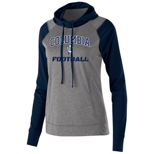 Columbia Football Hooded Long Sleeve Performance Shirt- Youth, Ladies & Men's, 2 Colors, 2 Logos