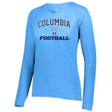 Load image into Gallery viewer, Columbia Football Long Sleeve Performance Tee- Youth, Ladies & Men's, 4 Colors