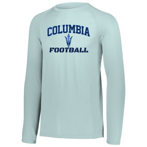 Columbia Football Long Sleeve Performance Tee- Youth, Ladies & Men's, 4 Colors