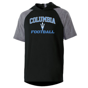 Columbia Football Short Sleeve Hooded Performance Shirt- 3 Colors