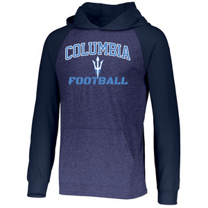 Columbia Football Two-Tone Long Sleeve Lightweight Hooded Shirt- 2 Colors