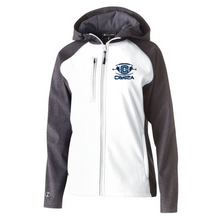 Load image into Gallery viewer, Columbia Football Colorblock Softshell Jacket- Ladies & Men's, 2 Colors, 3 Logo Options