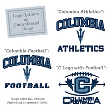 Load image into Gallery viewer, Columbia Football Short Sleeve Lightweight 1/4 Zip- 3 Colors, 3 Logo Options