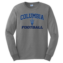 Load image into Gallery viewer, Columbia Football Long Sleeve Tee- Youth & Adult, 5 Colors