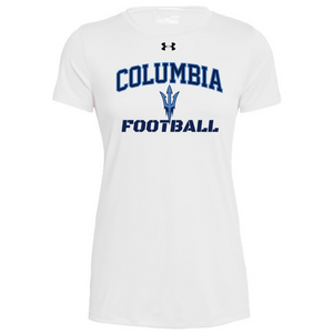 Columbia Football Under Armour Short Sleeve Performance Shirt- Ladies & Men's, 3 Colors